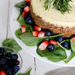 Pressure Cooker Blue Cheese Cheesecake and Strawberry Spinach Salad