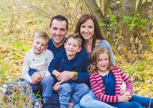 Family Picture - Marci with her husband and children