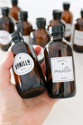 Two bottles of vanilla extract