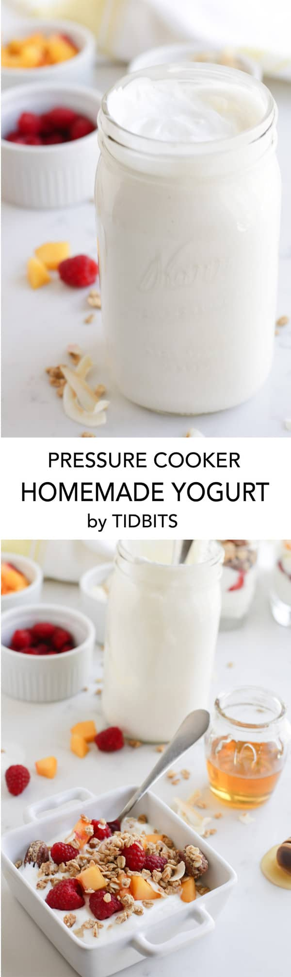 Pressure Cooker Homemade Yogurt- the most delicious, creamy yogurt you will ever meet