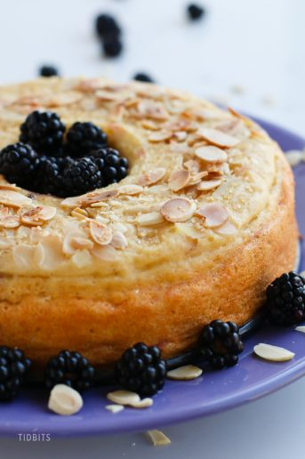 Pressure Cooker Blackberry Almond Breakfast Cake