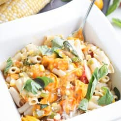 Pressure Cooker Sweet Corn and Tomato Pasta