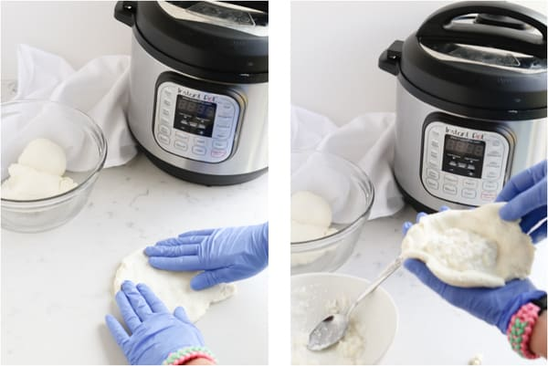 Creamy Soft Burrata made in the Instant Pot