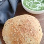 Instant Pot Whole Wheat Crusty Bread is full of seeds and whole grains and the perfect side to a great bowl of soup