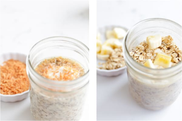 Two photos of different types of pressure cooker oats