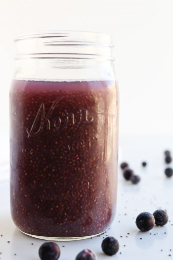 Pressure Cooker Chia Water in a mason jar