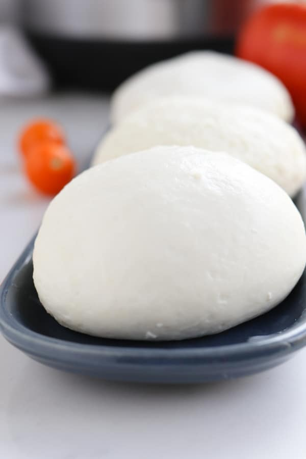 Close up of pressure cooker mozzarella balls