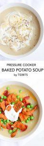 Pressure Cooker Baked Potato Soup is Easy, Creamy, and so Healthy!