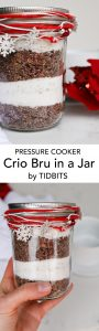 Pressure Cooker Crio Bru in a Jar is the perfect gift for the chocolate lovers in your life