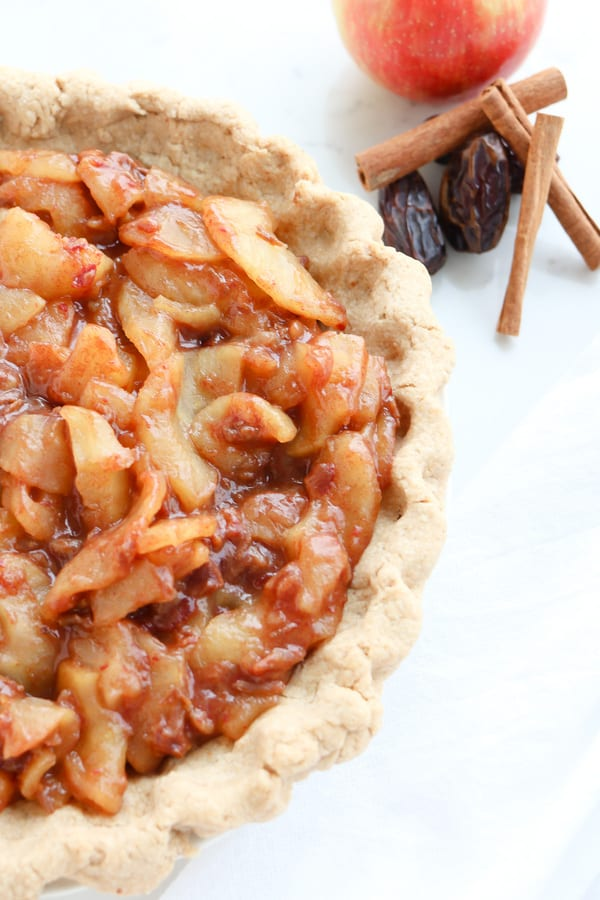 Pressure Cooker Sugar Free Caramel Apple Pie, sweet and wholesome!