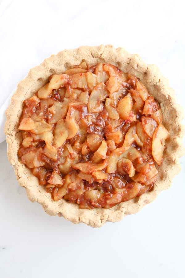 Caramel Apple Pie with whole wheat crust