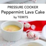 Pressure Cooker Peppermint Lava Cake is what Christmas Candy Cane Dreams are made of!