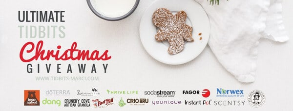 Christmas giveaway Facebook cover
