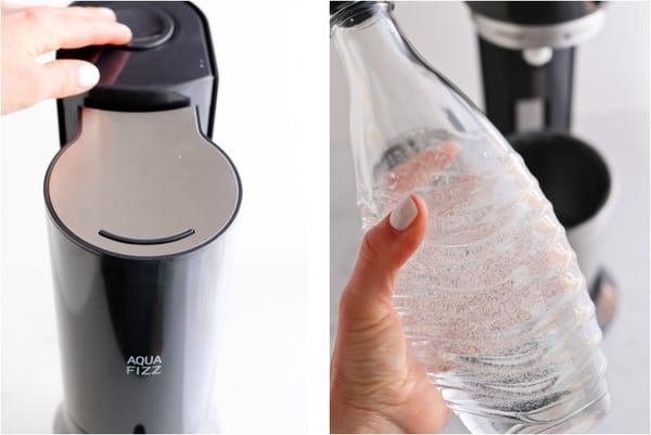 Step by step photos of soda stream