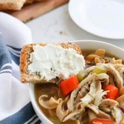 Pressure Cooker Short Cut Chicken Noodle Soup