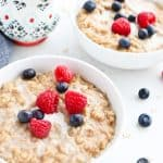 Pressure Cooker Maple Cinnamon Oatmeal is perfectly warm and creamy for a comforting breakfast