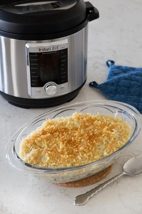 Instant Pot Cheesy Hash Brown Casserole