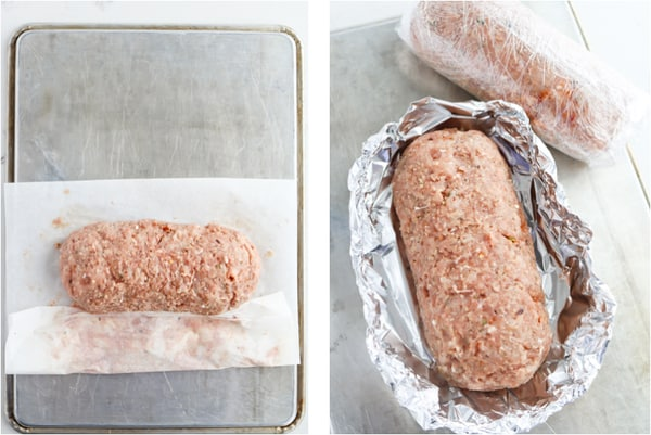 Instant Pot Stuffed Italian Meatloaf step by step process