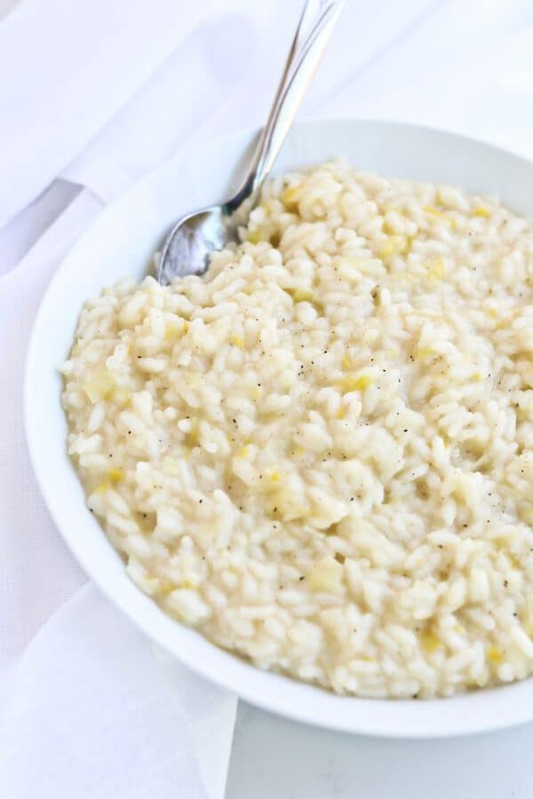 Basic Instant Pot Risotto on a plate