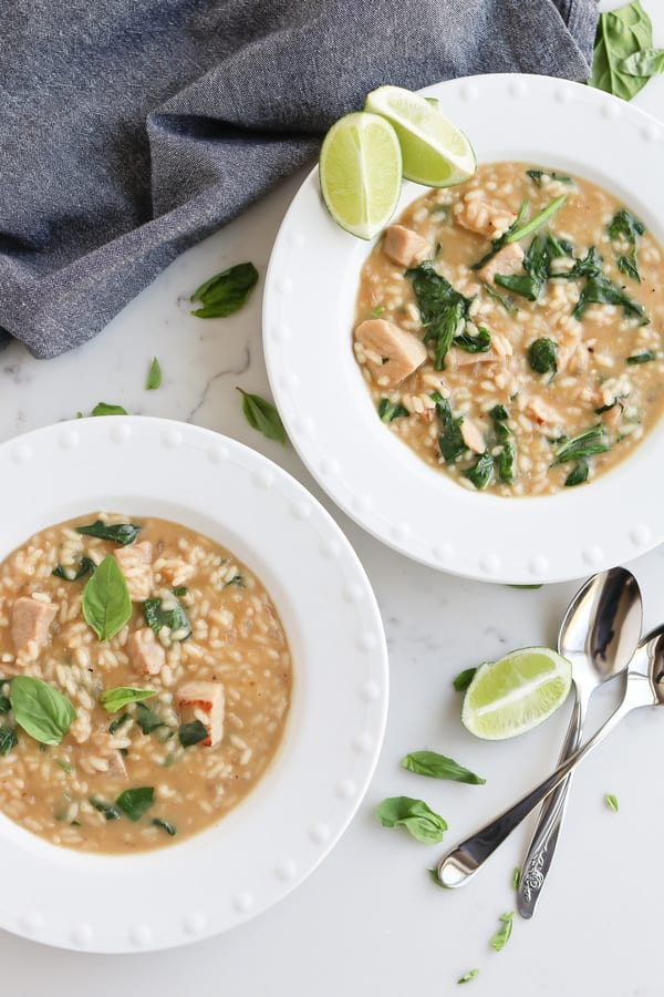 Instant Pot Thai Green Coconut Curry Risotto with Pork