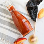Instant Pot Peach Chipotle BBQ Sauce in a bottle
