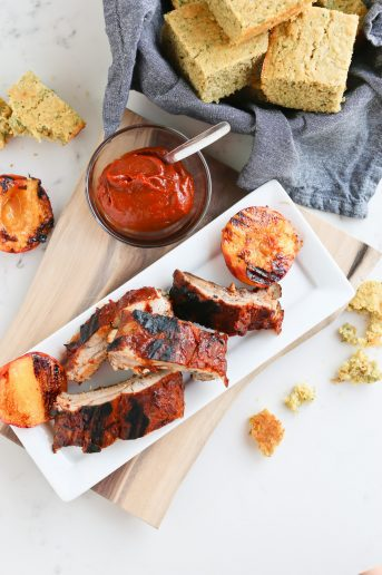 Instant Pot Chipotle Peach BBQ Ribs