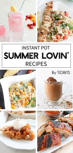 Collage of Instant Pot summer time recipes
