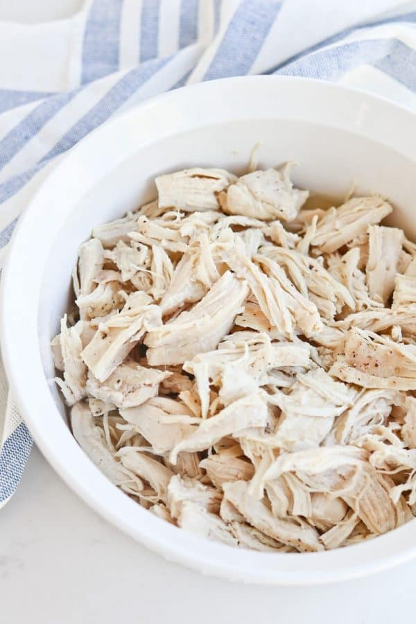 Instant Pot Shredded Chicken on plate