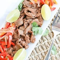 Instant Pot Easy Steak Fajitas
