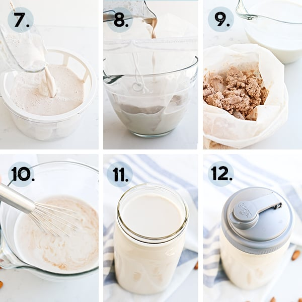 Collage of how to make Instant Pot Almond MIlk