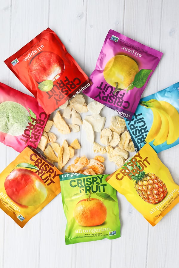 bags of freeze dried fruit