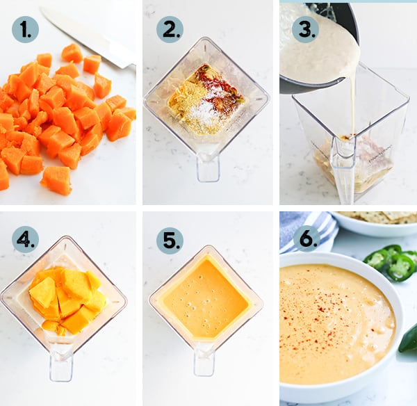 steps to make butternut squash cheese sauce