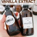 Vanilla extract in gifting bottles