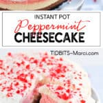 peppermint cheesecake on a white plate