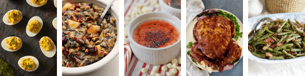 Collage of various holiday dishes