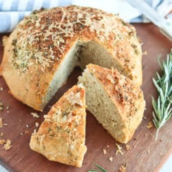 Instant Pot Whole Wheat Rosemary Asiago Crusty Bread