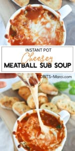 meatball soup in a white mug