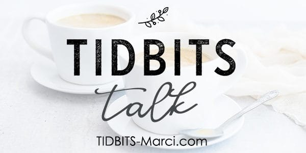 Title of tidbits talk on a cup of hot chocolate