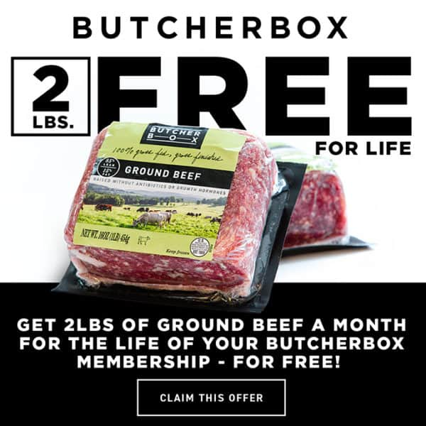 Ground beef in package