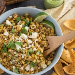 Instant Pot Mexican Street Corn Salad with Creamy Jalapeno Sauce