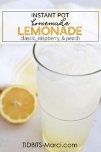 Glass of lemonade with lemon slices