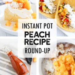 Instant Pot Peach Recipe Round-Up