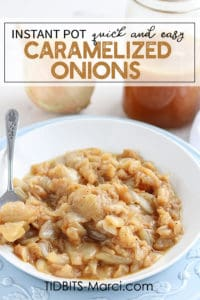White bowl with caramelized onions