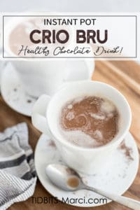 crio bru in a white cup with cream