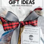 Frozen meals in a bag with ribbons