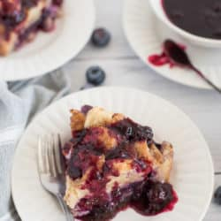 Instant Pot Stuffed French Toast with Blueberries and Cream Cheese