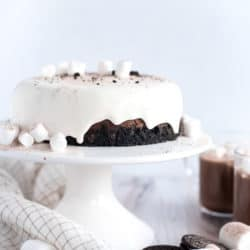 Instant Pot Hot Chocolate Cheesecake with Marshmallow Ganache