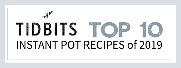 Instant pot recipes displayed in a square