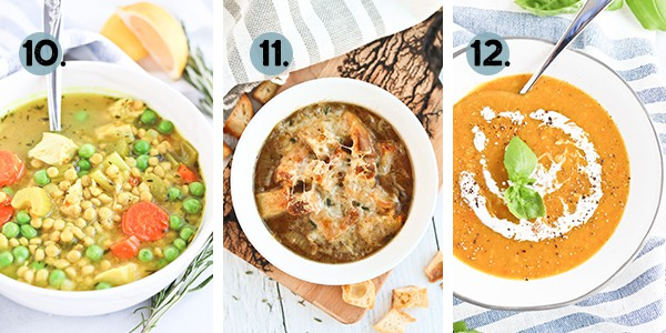 Collage of healthy Instant Pot Soup recipes