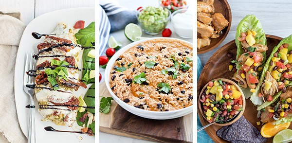 Collage of healthy Instant Pot recipes